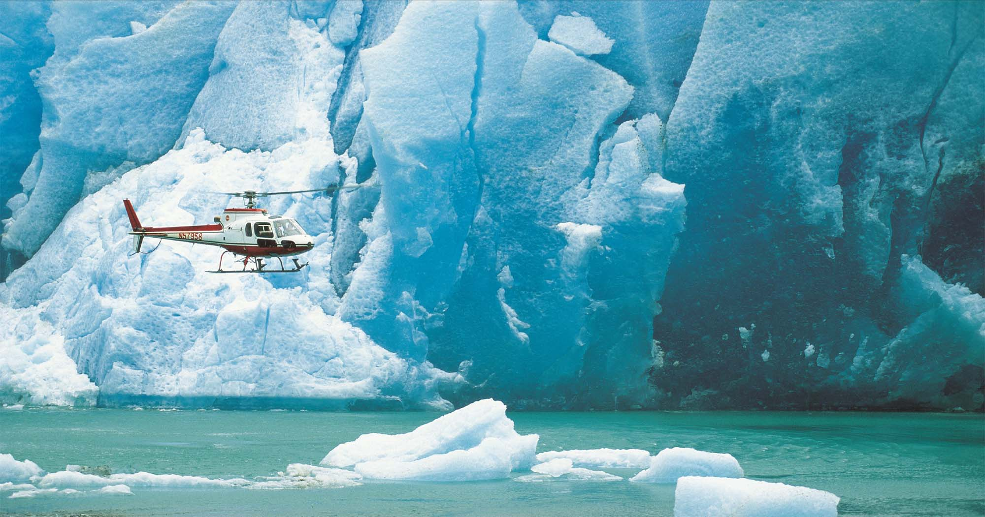 Helicopter and Glaciers